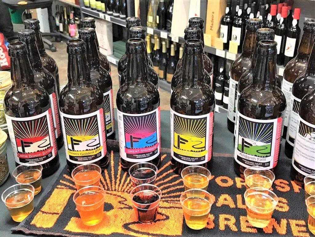 Yorkshire Dales Brewery beer bottles
