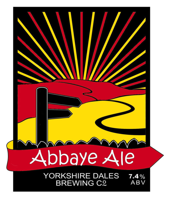 label artwork for Abbaye Ale, Yorkshire Dales Brewery