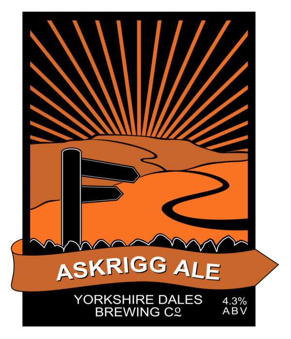 label design for Askrigg Ale, from Yorkshire Dales Brewery