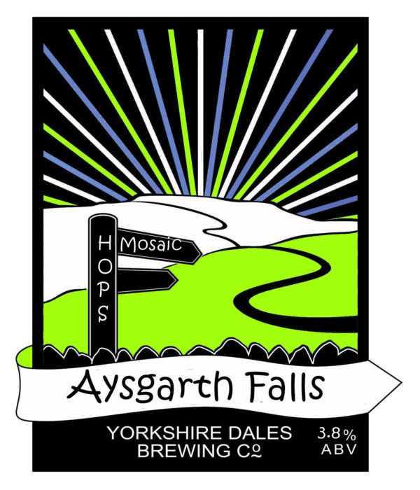 lable from Aysgarth Falls beer, Yorkshire dales Brewery