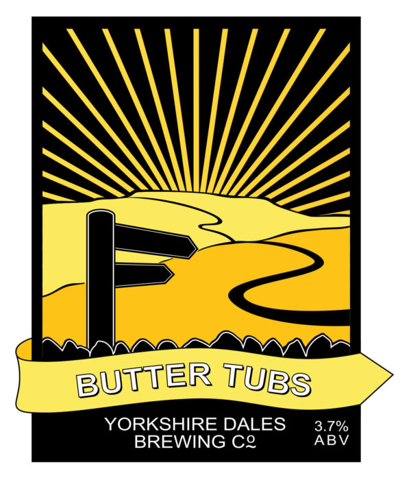 lable from butter Tubs, Yorkshire Dales Brewery