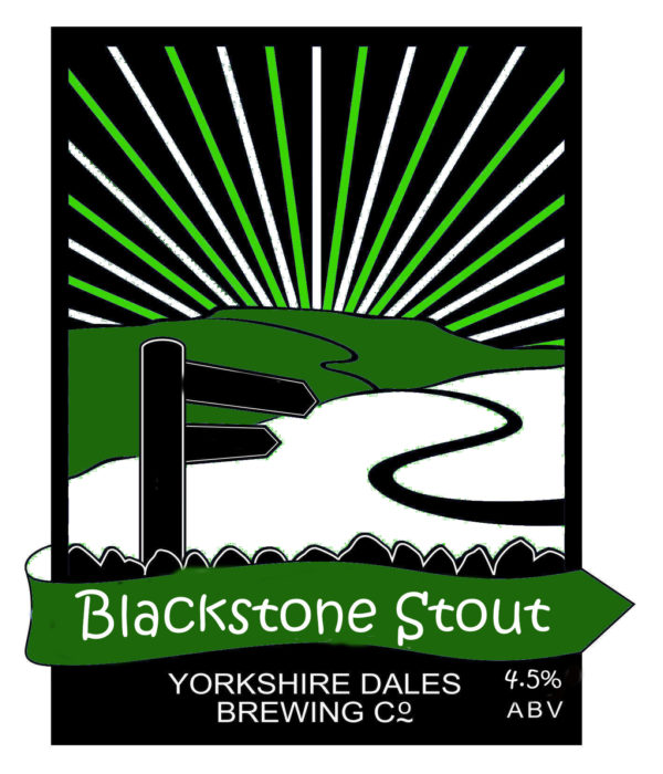 lable for Blackstone Stour beer by Yorkshire Dales Brewery