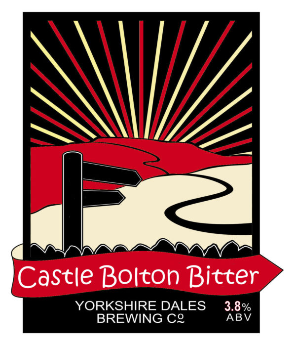 label fro castle bolton Bitter, beer by Yorkshire Dales Brewery