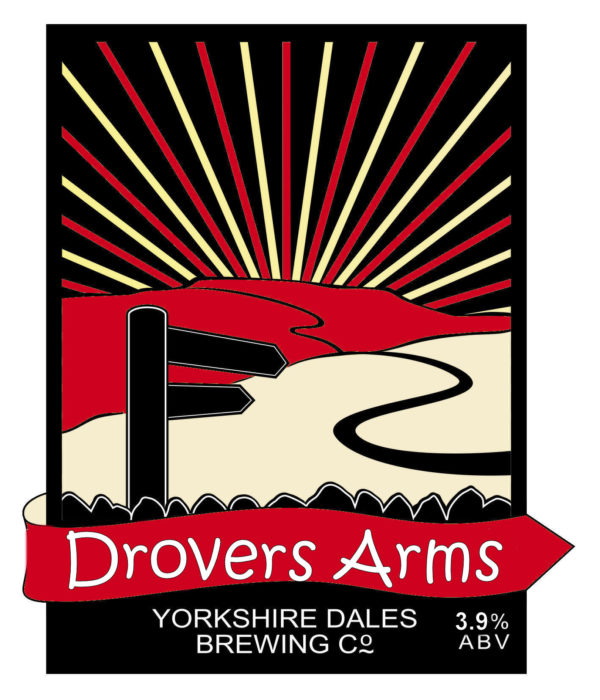 label for Drovers Arms beer by Yorkshire Dales Brewery