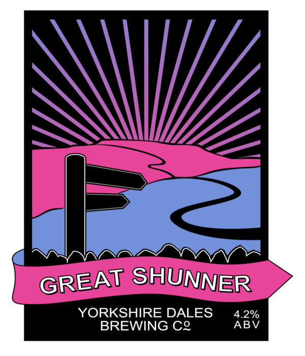 label for Great Shunner beer from Yorkshire Dales Brewery