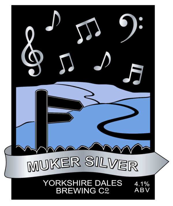 lable from muker Silver, Yorkshire beer