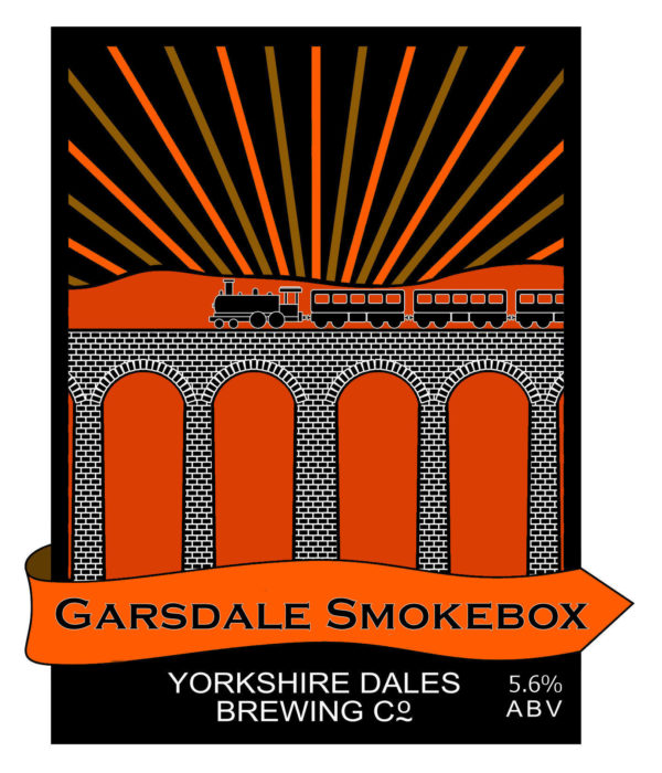 lable from Garsdale Smokebox beer by Yorkshire Dales Brewery