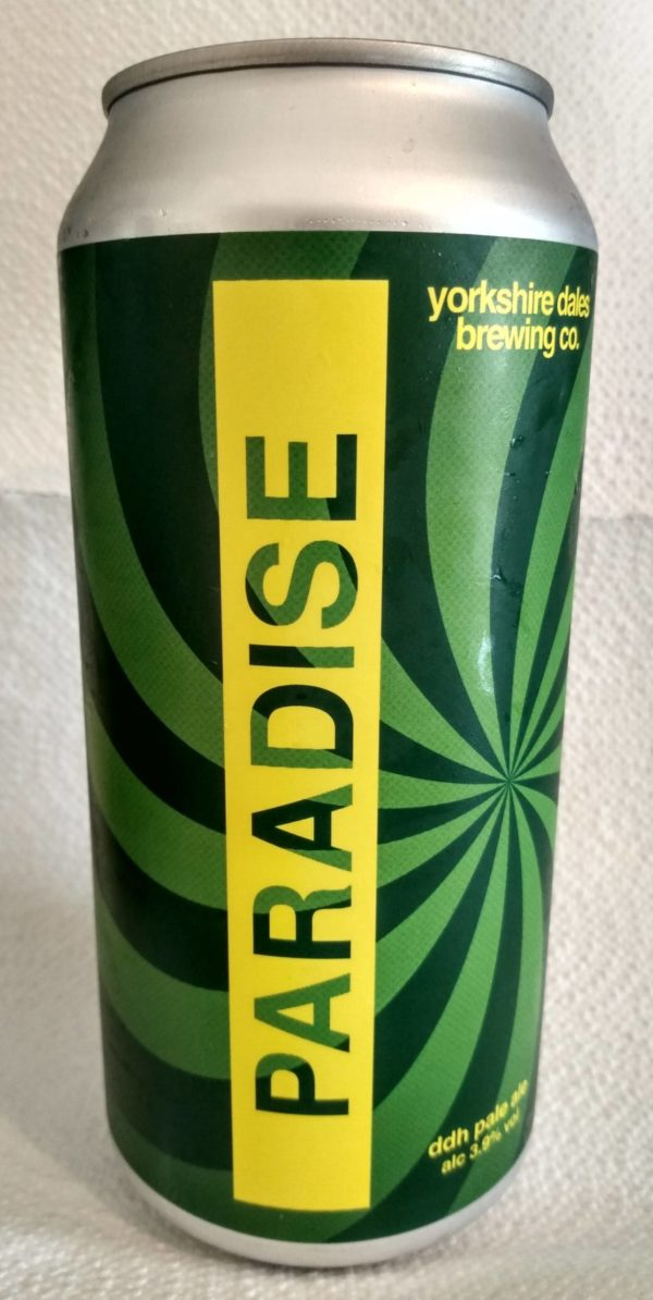 label for Paradise DDH beer by Yorkshire Dales Brewery