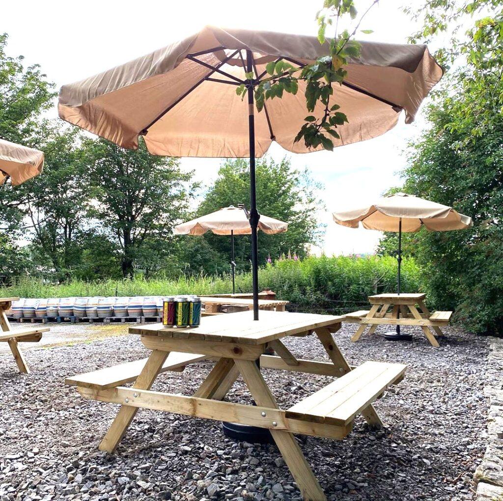 Yorkshire Dales Brewery beer garden