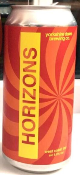 label for Horizons West Coast IPA beer, from Yorkshire Dales Brewery