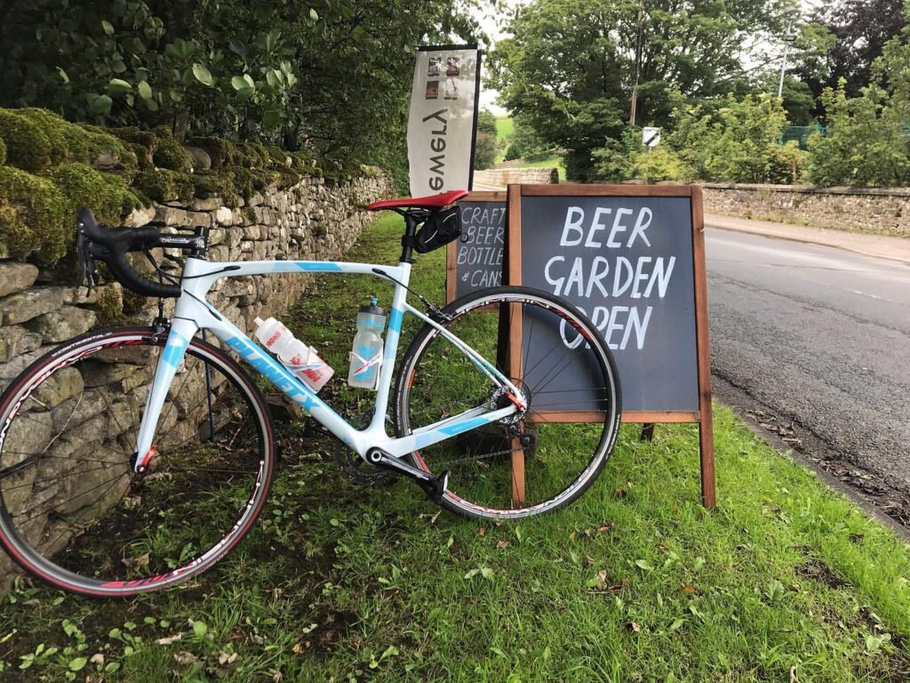 a bicycle at Yorkshire Dales Brewery