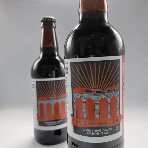 a bottle of Garsdale Smokebox beer from Yorkshire Dales Brewery