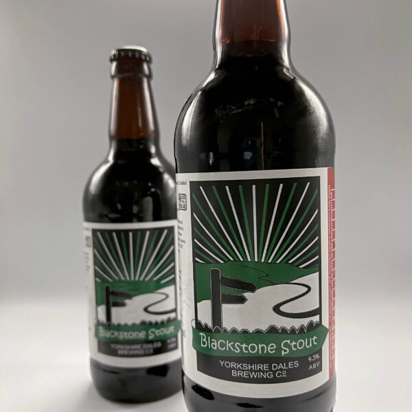 a bottle of Blackstone Stout from Yorkshire Dales Brewery