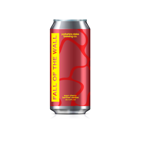 a can of Fall Of The Wall Sour Cherry Berliner Weisse by Yorkshire Dales Brewery