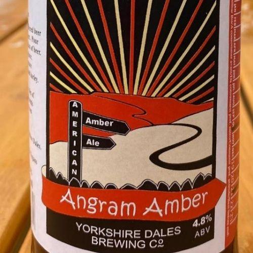 a bottle of Angram Amber beer